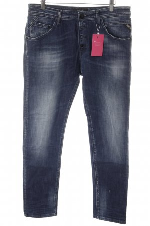 Replay Slim Jeans dunkelblau-blau Casual-Look