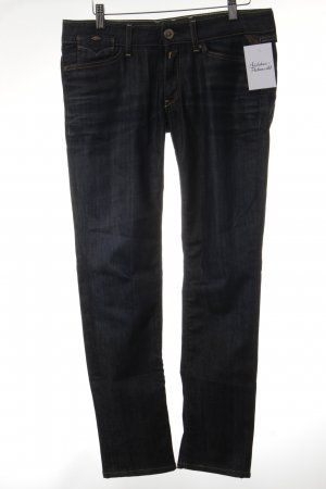 Replay Slim jeans donkerblauw casual uitstraling