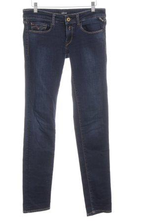 Replay Jeans slim bleu foncé style décontracté