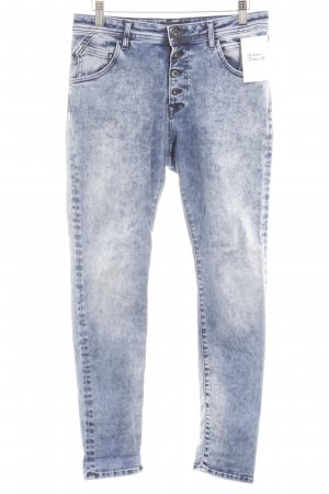 Replay Slim Jeans dunkelblau-himmelblau Bleached-Optik