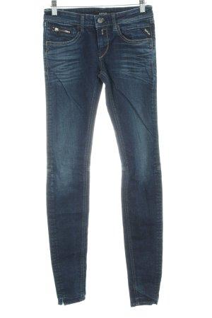 Replay Slim Jeans dunkelblau Used-Optik