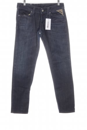 Replay Slim Jeans dunkelblau Washed-Optik