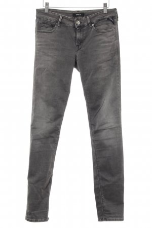 Replay Slim Jeans dunkelgrau Casual-Look