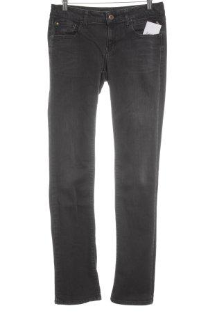 Replay Slim Jeans dunkelgrau Street-Fashion-Look