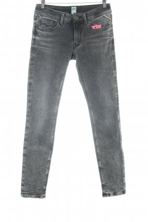 Replay Jeans slim fit grigio stile casual
