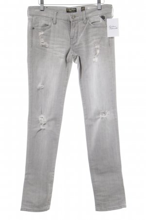 Replay Slim Jeans hellgrau Destroy-Optik