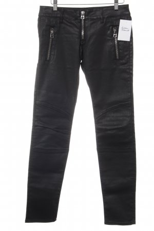 Replay Slim Jeans schwarz Matt-Optik