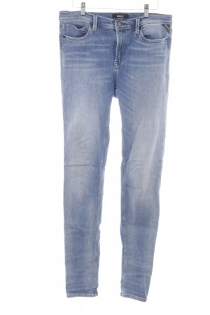 Replay Slim Jeans stahlblau Washed-Optik