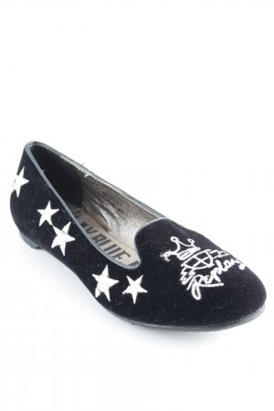 Replay Slingback Ballerinas black-white graphic pattern casual look