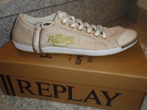 REPLAY Sneaker Damen Blogger Gr. 39 Gold/Natur TOP