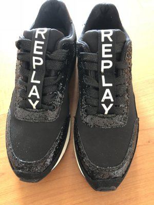 Replay Sneaker Neu Gr. 38 schwarz NP 110€