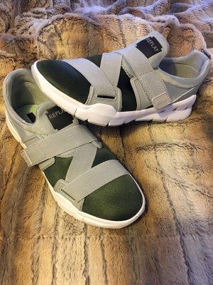 Replay Basket velcro gris-gris vert