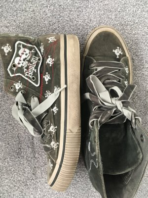 Replay Sneaker Skull grau aus Samt Gr. 38