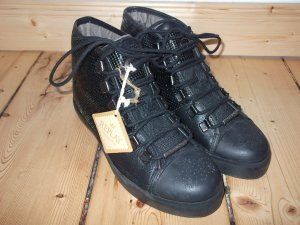 Replay Sneaker Tani Pailletten schwarz metallic Neu Gr. 39 ungetragen