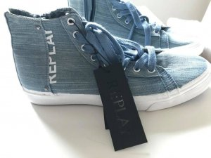 Replay Sneakers in Jeans-Optik , neu und ungetragen