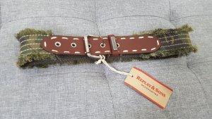 Replay & Sons Damen Gürtel Textil Gürtel Tarnfarben Leder & Baumwolle 65 cm