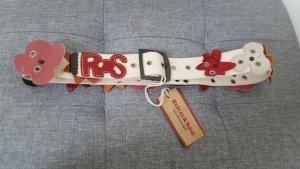 Replay & Sons Damen Textilgürtel Canvas Gürtel Lederblüten Größe 80