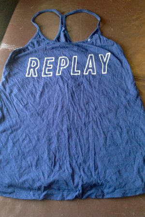 REPLAY Sport Top blue YOGA/ Sportoberteil Größe M