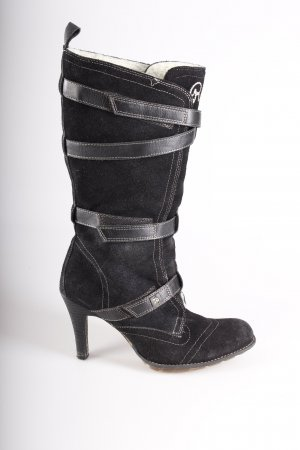 Replay boots black suede
