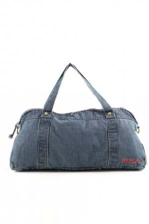 Replay Stoffen tas blauw casual uitstraling