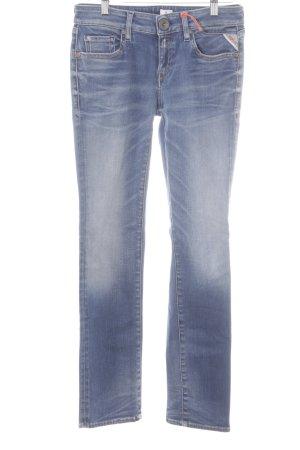 Replay Jeans met rechte pijpen blauw casual uitstraling