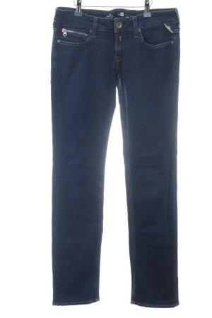 Replay Jeans coupe-droite bleu-bleu foncé style décontracté