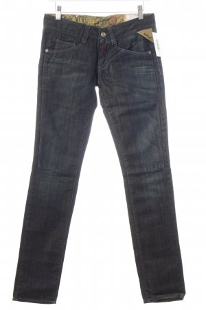 Replay Straight-Leg Jeans blau-hellgrün Farbverlauf Casual-Look