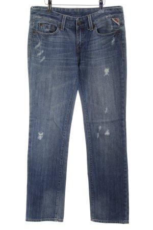 Replay Jeans a gamba dritta blu stile da moda di strada