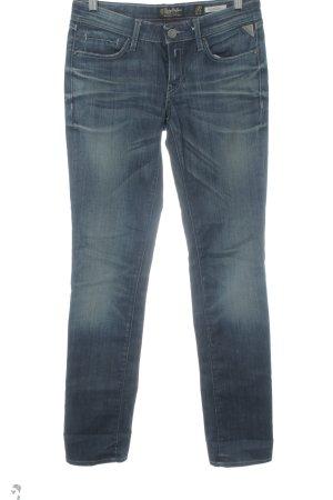 Replay Straight-Leg Jeans dunkelblau-hellgelb Casual-Look