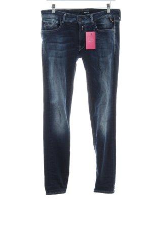 Replay Jeans coupe-droite bleu foncé-bleu azur gradient de couleur