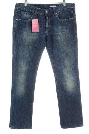 Replay Straight-Leg Jeans dunkelblau meliert Casual-Look