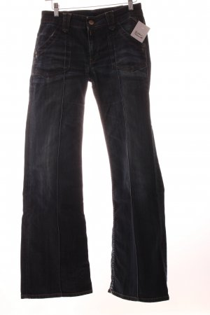 Replay Straight-Leg Jeans dunkelblau Washed-Optik