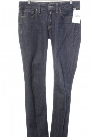 Replay Straight-Leg Jeans dunkelblau-weiß meliert Casual-Look
