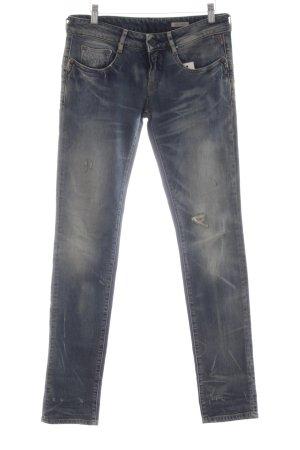 Replay Straight-Leg Jeans graublau Used-Optik