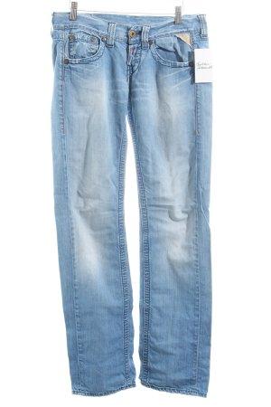 Replay Straight-Leg Jeans hellblau Used-Optik