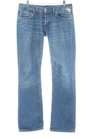 Replay Straight-Leg Jeans himmelblau meliert Casual-Look