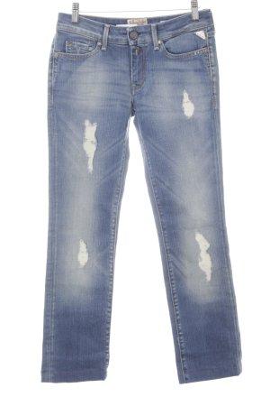 Replay Jeans coupe-droite bleuet style déchiré