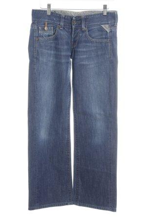 Replay Straight-Leg Jeans stahlblau Casual-Look