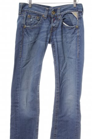 Replay Straight-Leg Jeans stahlblau Used-Optik