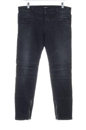 Replay Jeans coupe-droite taupe motif de courtepointe style déchiré