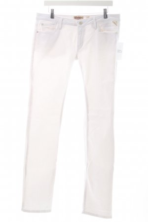Replay Straight-Leg Jeans weiß Casual-Look