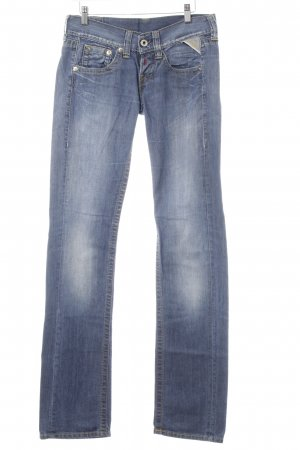 Replay Straight-Leg Jeans weiß-graublau Casual-Look