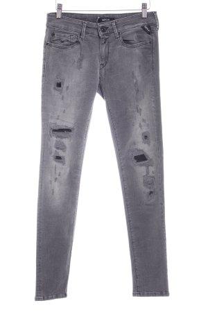 Replay Stretch Jeans grau-schwarz Casual-Look
