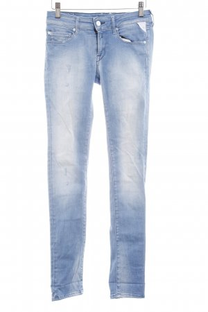 Replay Stretch Jeans himmelblau Street-Fashion-Look