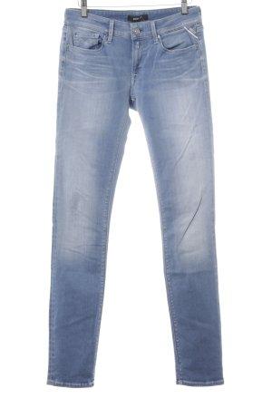 Replay Stretch Jeans kornblumenblau Casual-Look