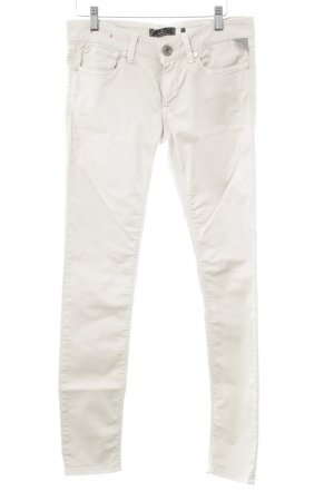 Replay Stretchhose hellbeige Casual-Look