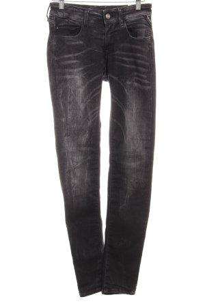 Replay Pantalón elástico negro-gris oscuro look Street-Style