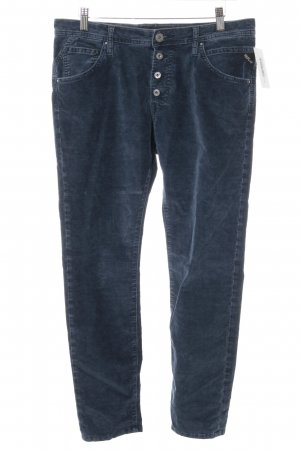 Replay Stretch Trousers steel blue casual look