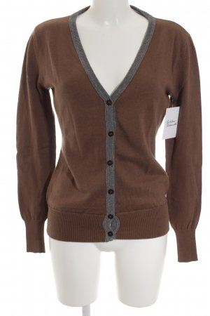 Replay Strickjacke grau-braun Casual-Look