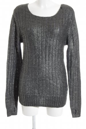 Replay Strickpullover anthrazit Lochstrickmuster Casual-Look